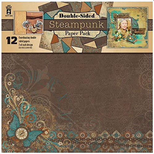 HOTP STeampunk Double-sided Paper Pack 12x12 12 Coordinating Papers
