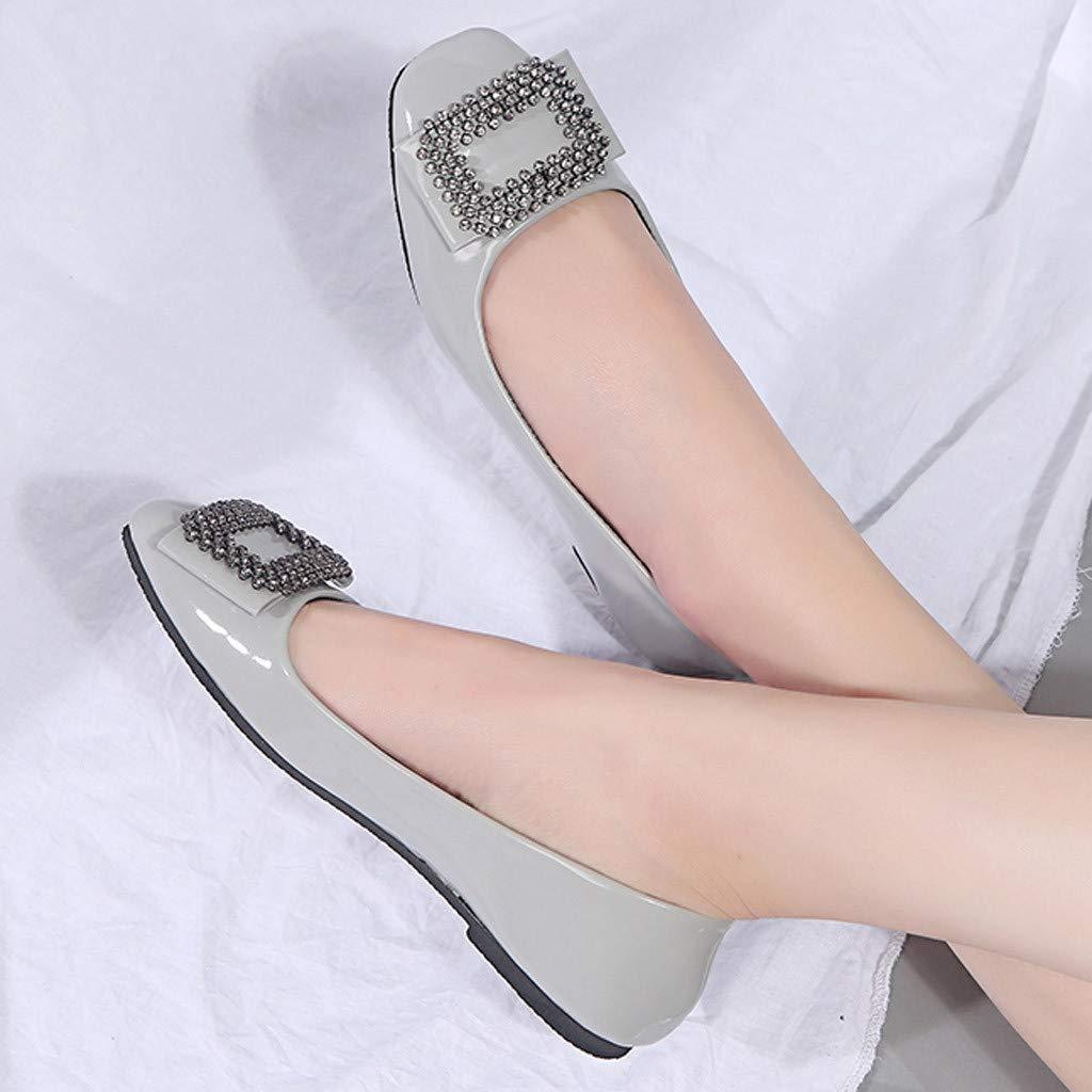 FOTBIMK Chaussures Femme Plate,Chaussures Plates De Mode pour Femmes Casual Wild Large Size Chaussures pour Femmes Confortables