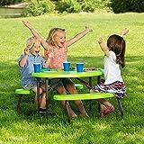 Lifetime 60132 Children's Oval Picnic Table, Lime