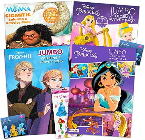Disney Princess Coloring Book Super Set -- Bundle Includes 4 Disney Princess Books Filled with Over 400 Coloring Pages and Activities and Over 175 Stickers (Party Set)