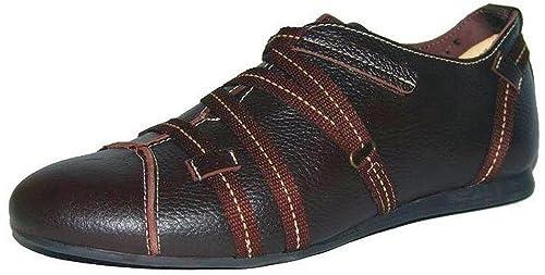 Unbekannt - Mocasines de Piel para mujer Marrón Chocolate, color Marrón, talla 36