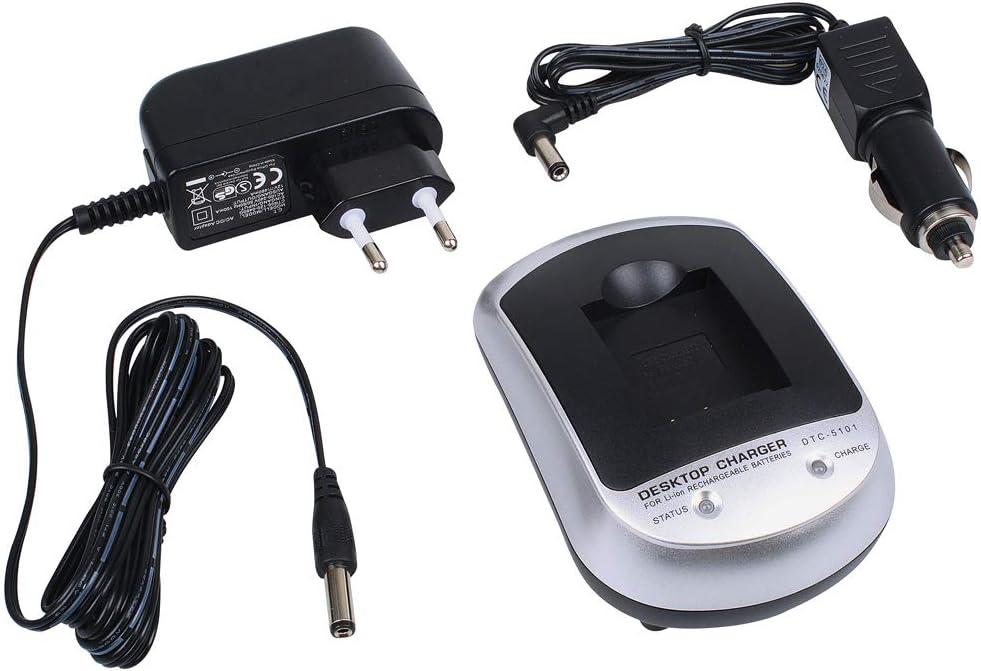 KFZ Ladekabel f/ür Akkutyp NP-BG1 f/ür Sony DSC-W30 DSC-W40 DSC-W50 DSC-W70 foto-kontor Ladestation Ladeger/ät 500mA