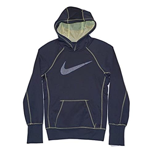 6966991ce651 Image Unavailable. Image not available for. Color  Nike Therma Fit Swoosh  Out Women s Pullover Hoodie 516975 Blue (X-Small)