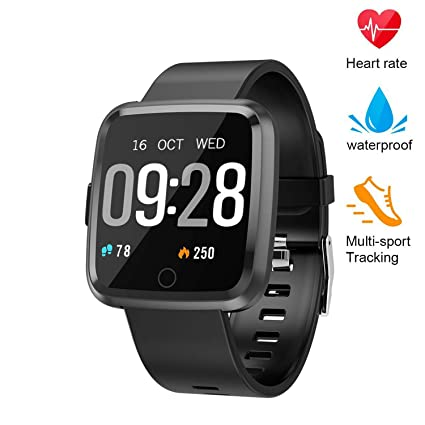 Fitness Tracker, Smart Watch with continuous Heart Rate Sleep Monitor, IP67 Waterproof Fitness Watch, Big Color Screen Activity Watch with Blood ...