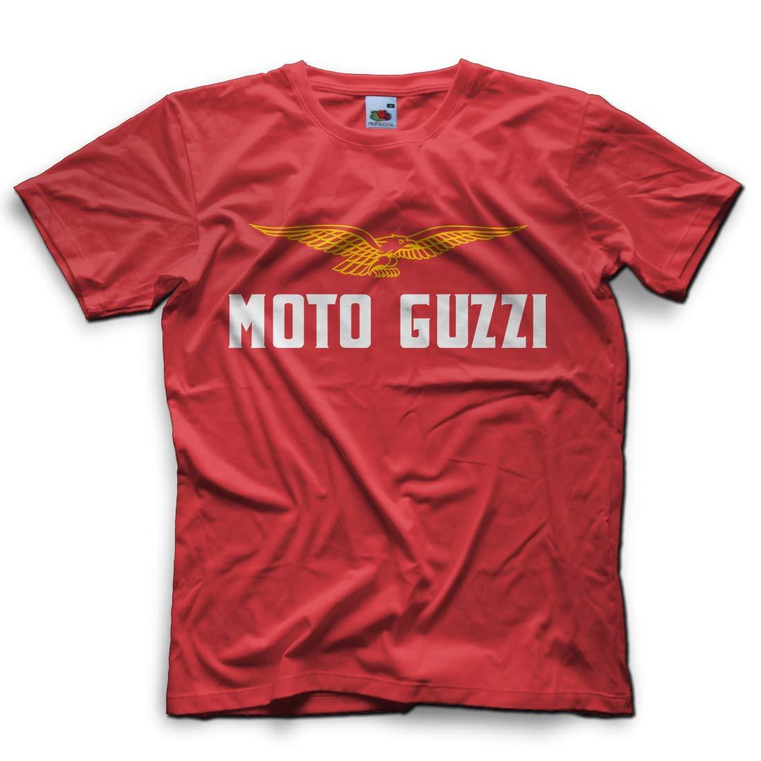 FR Uomo Vari Colori T-Shirt Stampa Moto Guzzi Tribute