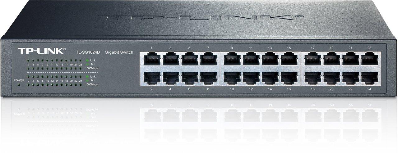 TP-Link 24-Port Gigabit Ethernet Unmanaged Switch | Plug and Play | Desktop/Rackmount | Fanless | Limited Lifetime (TL-SG1024D) by TP-Link