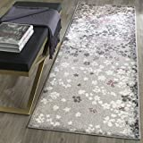Safavieh Adirondack Collection ADR115M Light Grey and Purple Contemporary Floral Runner (2'6″ x 8′) Review