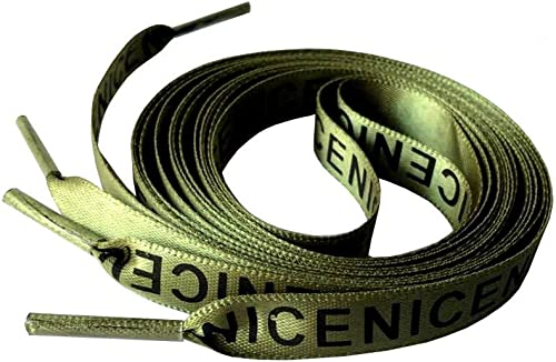 Flat Shoelaces Letter Prints Shoe Laces for Sneaker Sport Shoes Cool 47 Inch New
