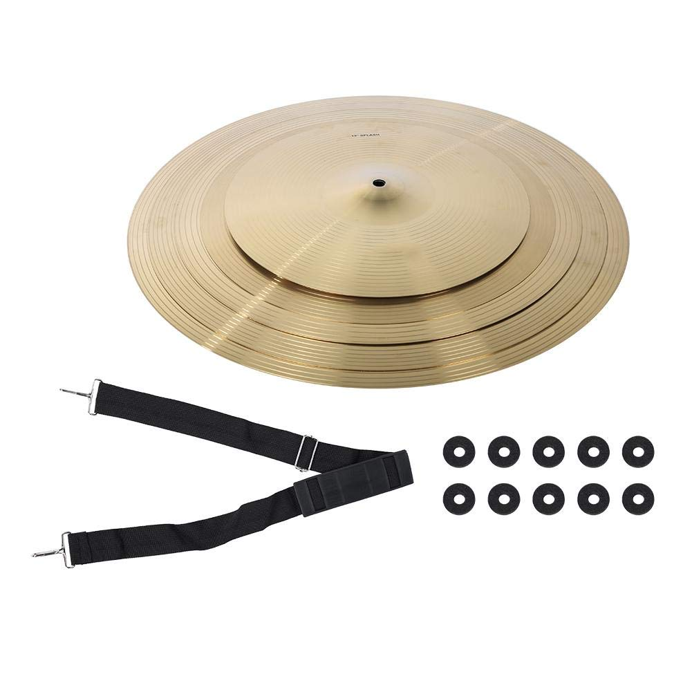 Cymbal Drum Cymbal Drum Kit Portable Practical Durable 5Pcs Drum Kit Cymbal Set Musical Instrument Accessories by RiToEasysports by RiToEasysports