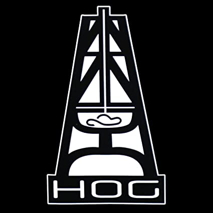 Hooey Hog PREMIUM Decal 5 Inch White