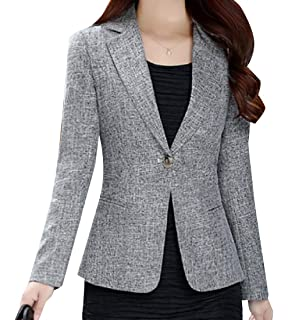 Andopa Womens Blazer Open Front Regular Fit Lapel Wear to Work Welt Jacket