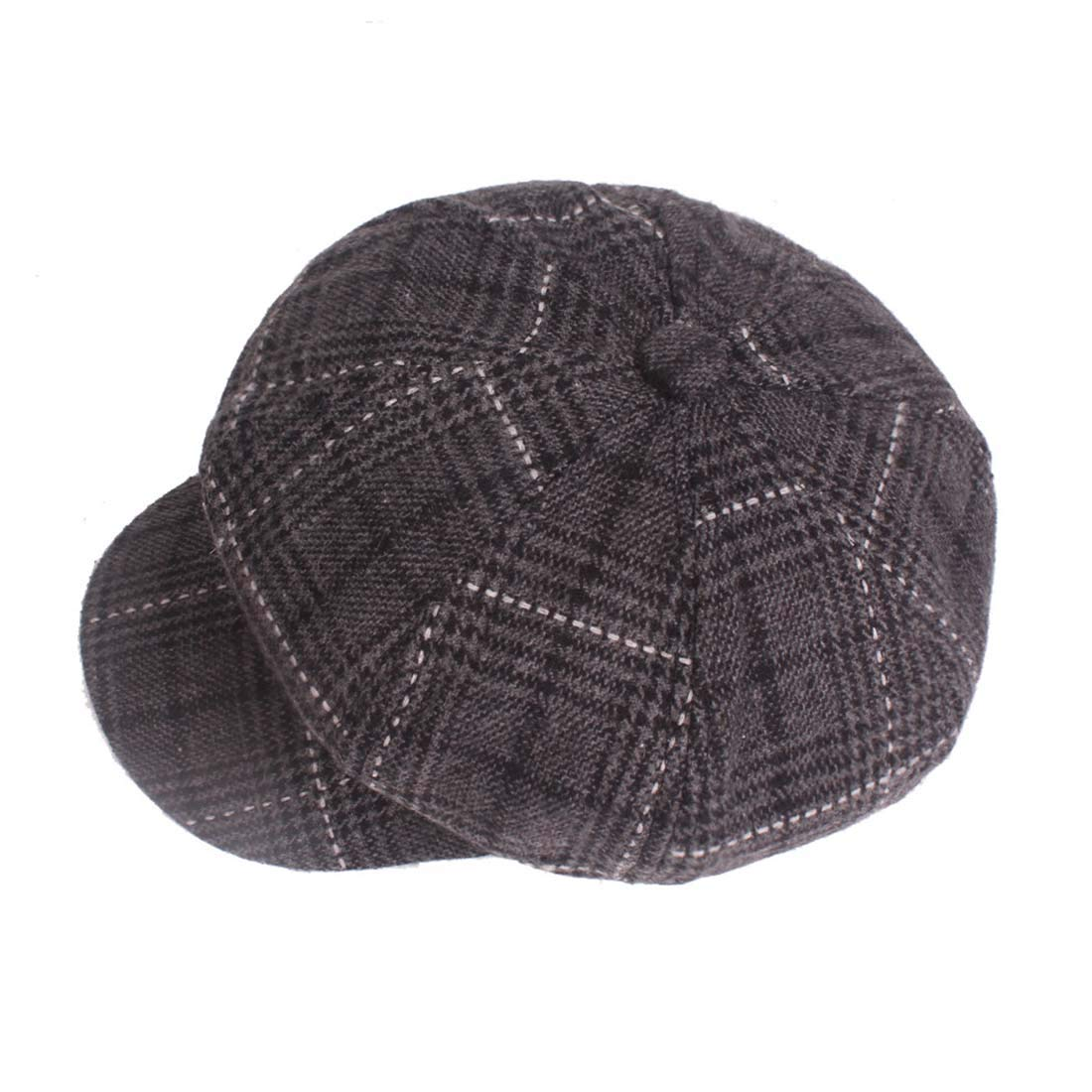 Topcoco Unisex 8 Panel Warm Tweed Newsboy Flat Cap Beret Ivy Painting Hat