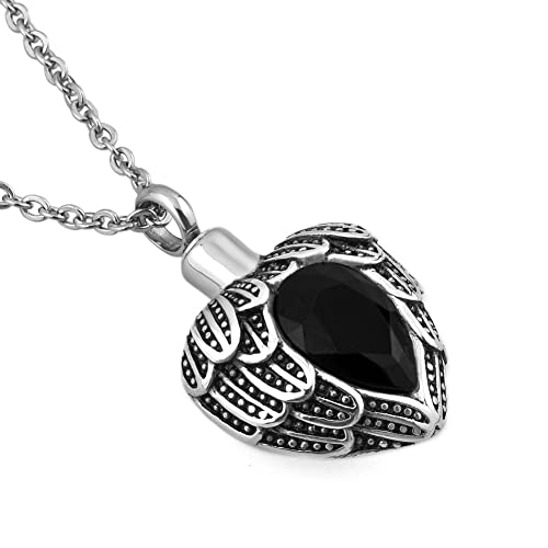 Amazon cremation jewelry urn necklaces for ashes heart crystal cremation jewelry urn necklaces for ashes heart crystal keepsake pet memorial pendants black aloadofball Images