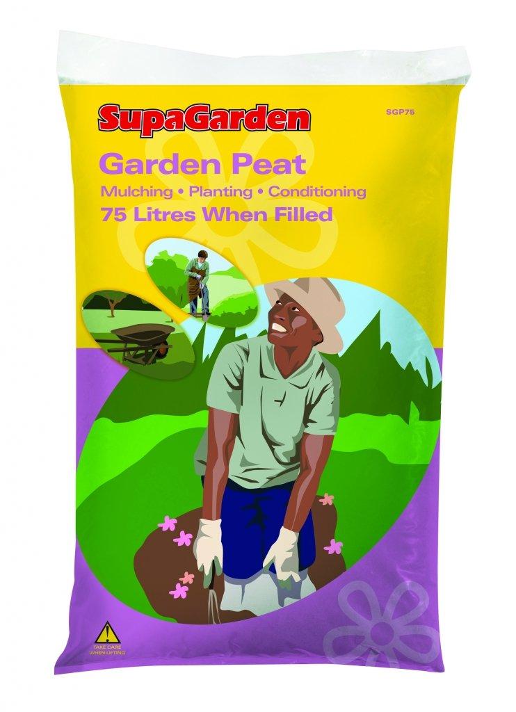 SupaGarden Garden Peat 75 Litres Moss Peat Compost Garden Plant Soil Fertilizer