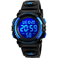 Kid Watch for Boy Girl Child Multi Function Digital LED Sport 50M Waterproof Electronic Analog Quartz Watches Gift Black