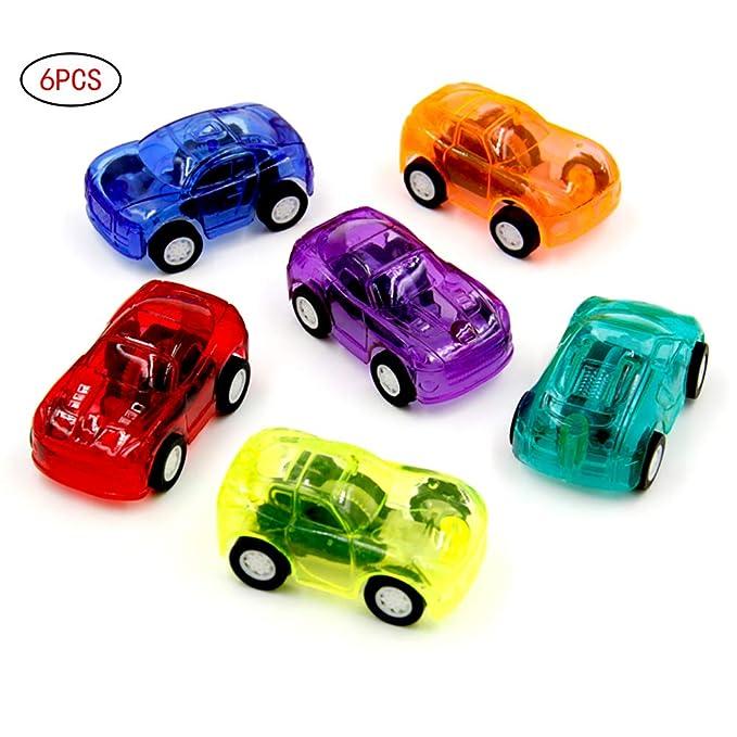 Beito 6 Paquetes Mini Tire hacia atrás y Dejar IR rápido Coche de Carreras y 2