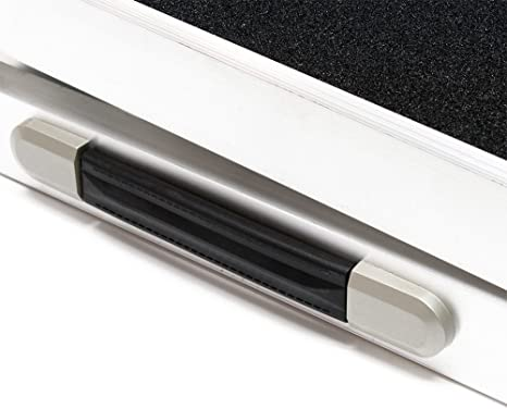 Wiltec Hunderampe Tierrampe 1fach Faltbar Aluminium Rutschfeste Oberfläche 244 X 38cm 110kg Haustier