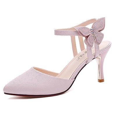 Sandales Noir/Rouge/Blanc PU Vamp Supérieur Femme Été Chaussures À Talons Épais Bouche De Poisson Chaussures À Talons Pantoufles (Couleur : Noir, Taille : EU37/UK4.5-5/CN37)