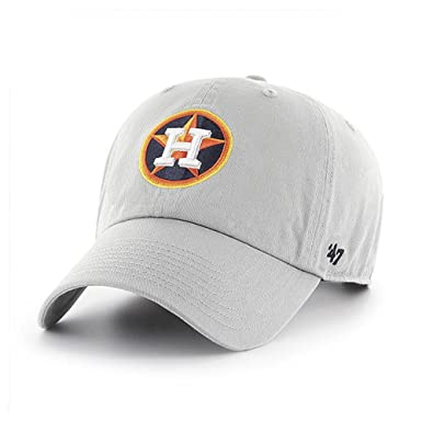 398a2d60b87bc Image Unavailable. Image not available for. Color   47 Brand Houston Astros  Clean up MLB Dad Hat Cap Grey