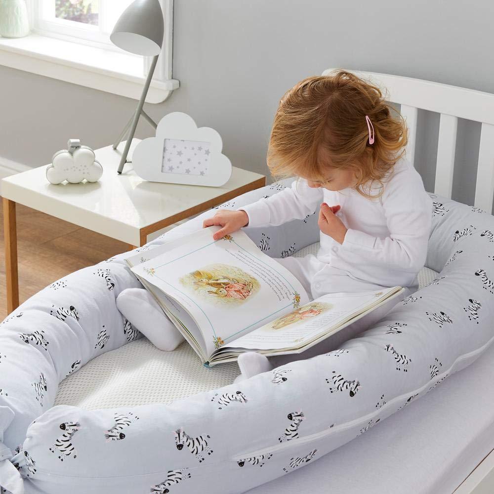 Purflo PurAir Breathable Nest Maxi/™ Motiv: Zebra Atmungsaktives Kissen f/ür Kinder