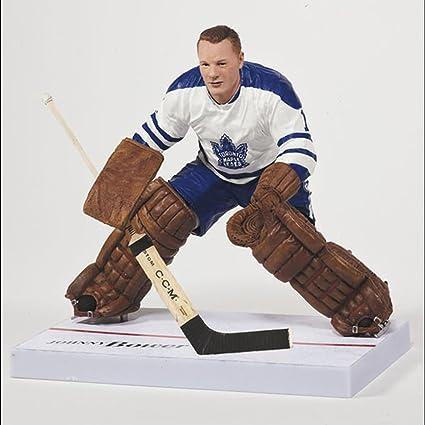 McFarlane Johnny Bower Toronto Maple Leafs White Jersey NHL Series 32 Figure