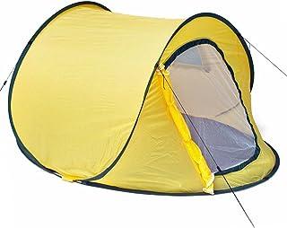 Goods & Gadgets Pop-Up Wurfzelt Automatik-Zelt Quick-Tent Sekundenzelt zum Werfen - Orange
