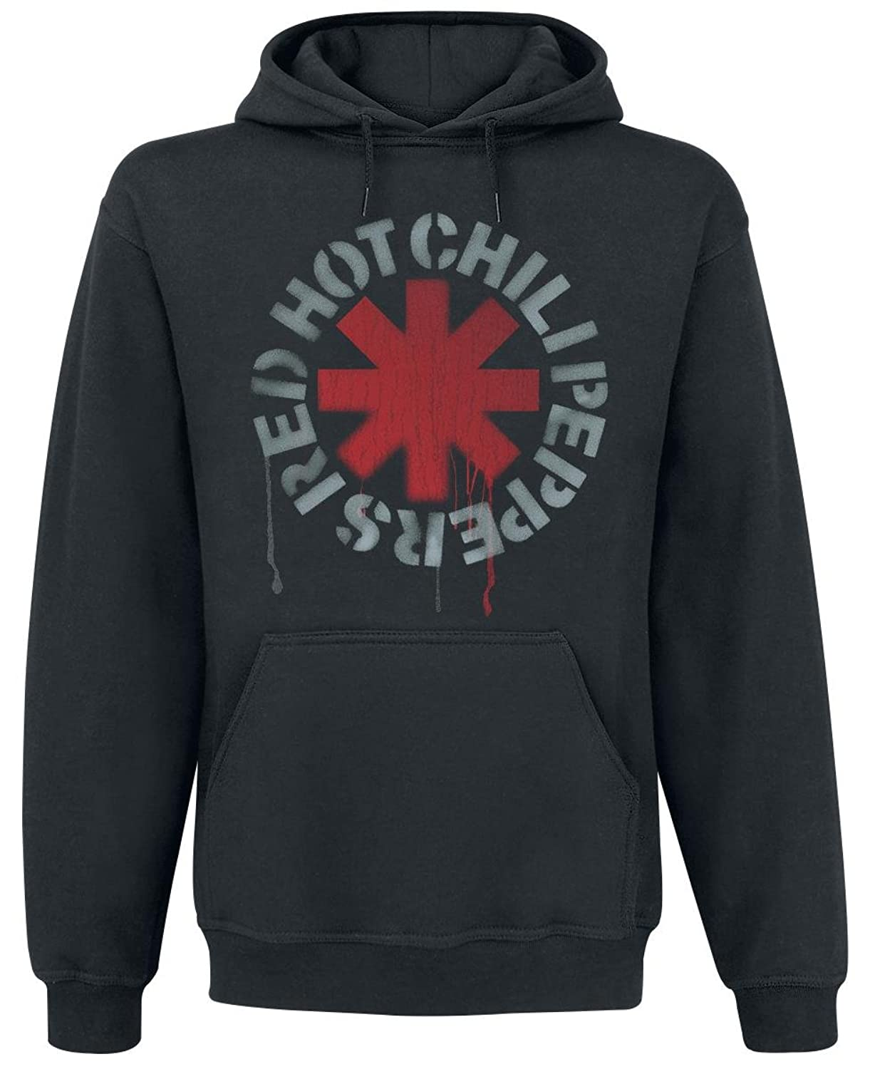 Red Hot Chili Peppers Stencil Hooded sweatshirt black