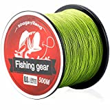 Sougayilang 500m/547Yards 4 Strands 12lb-72lb Multifilament Pe Superbraid and Braided Fishing Line (Grey...