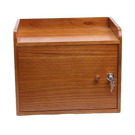 Cajas de almacenaje Archivador Caja De Almacenamiento De Suministros De Oficina Gabinete De Almacenamiento De Madera