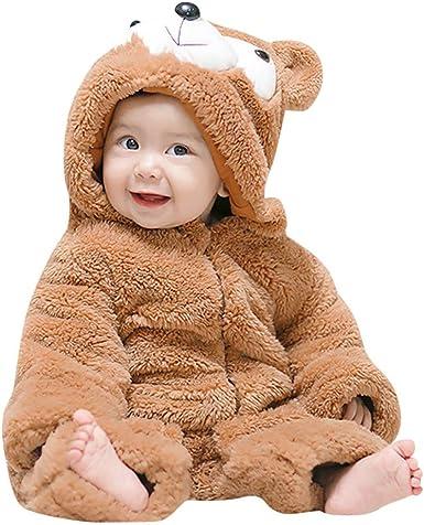Mono de Nieve Bebés, Mameluco de Invierno Lindo Oso Pijama Peleles con Capucha Rompers Bebés Recién Nacidos Pijamas Bebés de Una Pieza Saco de Dormir Infantil Mamelucos Espesado para Bebés de 3-24Meses: