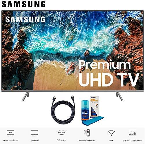 Samsung UN82NU8000 82 Class NU8000 Premium Smart 4K Ultra HD TV (2018) (UN82NU8000FXZA) with 6ft High Speed HDMI Cable and Screen Cleaning Kit UN82NU8000 82NU8000