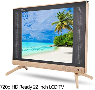 Televisor LCD de 22 Pulgadas Portátil de Alta definición 1366x768 Resolución HD TV LCD Portátil Fernseher Freenet TV Mini televisor Sonido Compatible HDMI/USB/VGA/TV/AV(UE): Amazon.es: Electrónica
