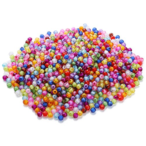 YazyCraft Faceted Beads Assorted Color 8 mm 1000 pcs