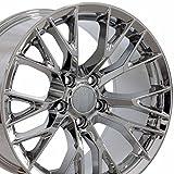 OE Wheels 18 Inch Fits Chevy Corvette 05-2013 C7 Z06 Style CV22B 19x10/18x8.5 Rims Chrome SET