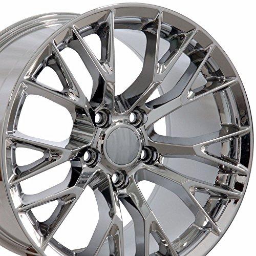 OE Wheels 17 Inch Fits Chevy Camaro Corvette Pontiac Firebird C7 Z06 Style CV22 Chrome 17x9.5 Rim Hollander 5734 ()