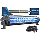 MICTUNING Magical M1s 19 Inch Aerodynamic LED Light Bar (Upgraded) with IceBlue Accent Light, Exclusive Curved Lens Wind Diffuser and Wiring Harness