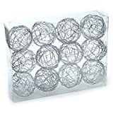 Design Accents 2.5'' Decorative Silver Wire Balls Spheres - Box of 12