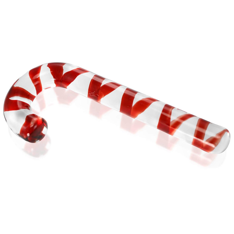Candy cane pyrex dildo