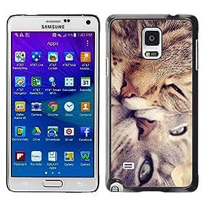 Be Good Phone Accessory // Dura Cáscara cubierta Protectora Caso Carcasa Funda de Protección para Samsung Galaxy Note 4 SM-N910 // Cute Cat Friends