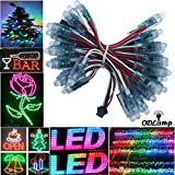 Odlamp 500pcs WS2811 Dream Color Changing RGB Addressable LED Pixel String light Waterproof 12mm DC12V For Christmas Party Advertising Board Decoration (DC12V 500pcs)