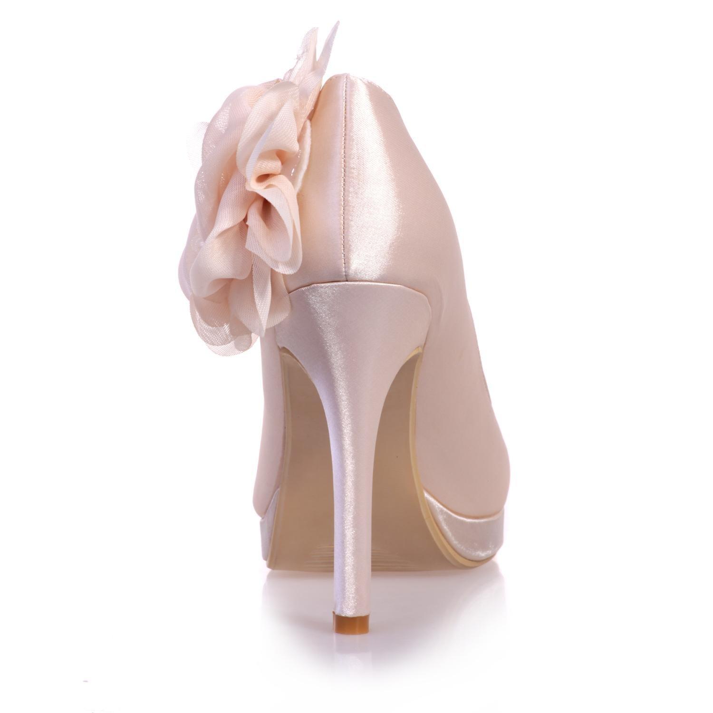 De 07 Boda Tacón Y Elegant Señoras Alto Shoes6915 Seda High Ybfy6g7
