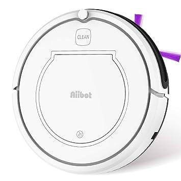 Aiibot Robot Aspirador Navegación Inteligente, Robot de Limpieza Fuerte Succión con Control Remoto, Sensor de Caída (T350 Blanco): Amazon.es: Hogar