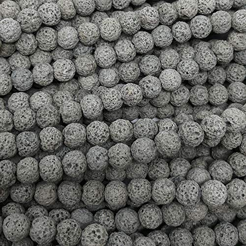 8mm Dyed Lava Rock Beads Natural Round Loose 15.5