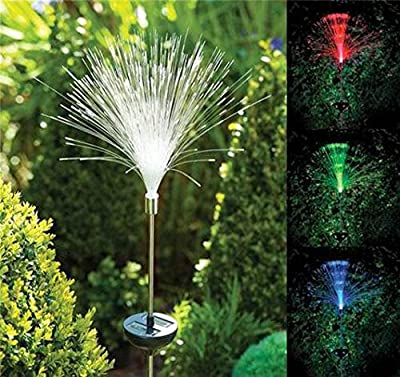 GLADLE Fibre Optic Colour Changing Garden Lights Solar Powered For Indoor/Outdoor Holiday Decoration, Garden, Party, Backyard, Bistro, Pergola