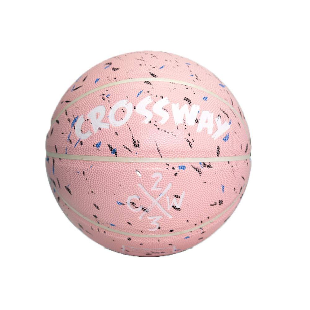CROSSWAY - Balón de Baloncesto para Interior y Exterior, Piel Rosa ...