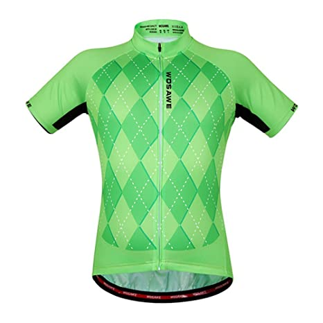 b8c85a67b Hot Sale Wosawe Team Racing Cycling Jerseys Green Shirts Women s Sports  Short Sleeves Suit Ciclismo Maillot