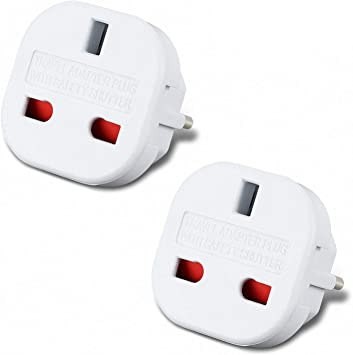 Incutex 2X Adaptador UK España, Adaptador UK EU, Adaptador Enchufe ...
