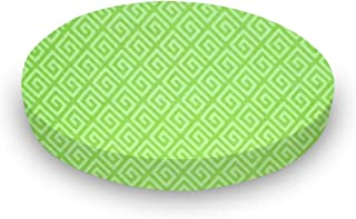 product image for SheetWorld Fitted Oval Crib Sheet (Stokke Sleepi) - Geo Green - Made In USA