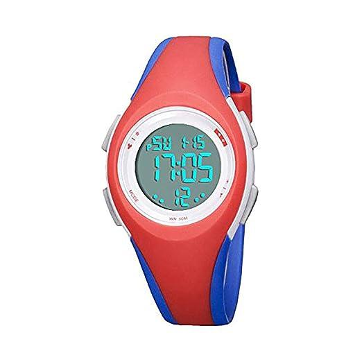 Reloj Digital para niños y niñas, Resistente al Agua al Aire Libre, con Alarma