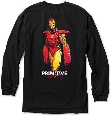 Primitive Skate x Marvel Mens Iron Man Long Sleeve T Shirt ...